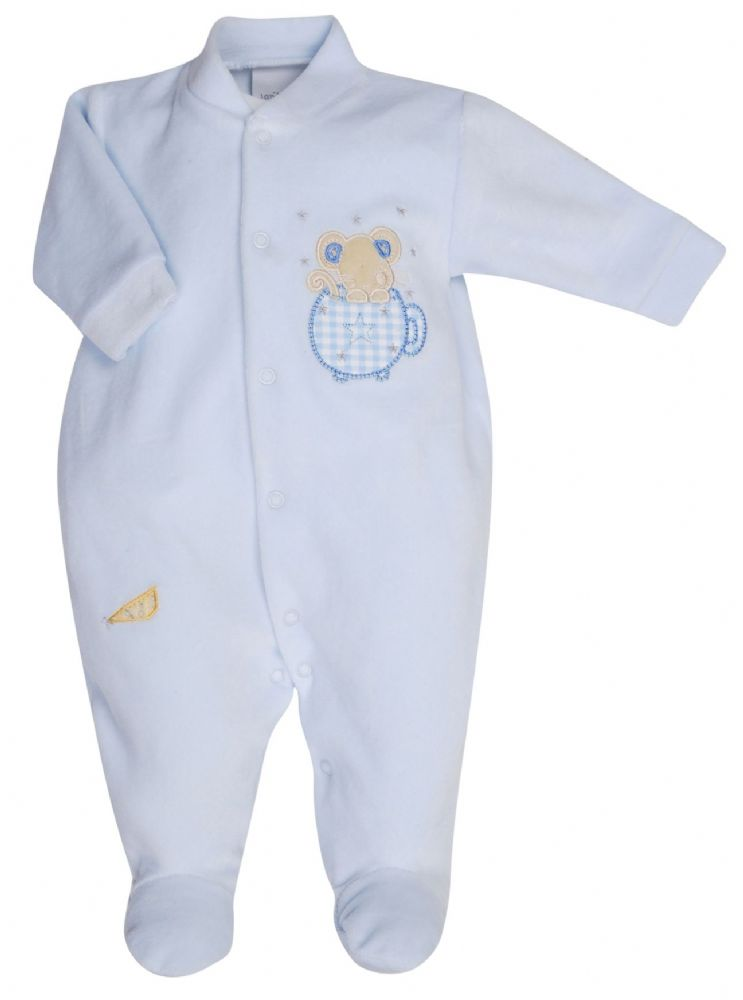 AV1202 Mouse in Teacup Velour Sleepsuit (B)